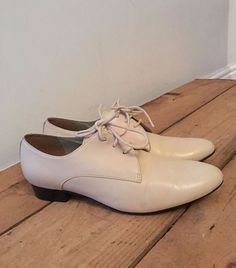c58d424d426d6 UK SIZE 4 WOMENS CLARKS CREAM LEATHER LACE UP SHOES BODKIN BAY BONE