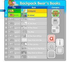 Backpack Bear's Books