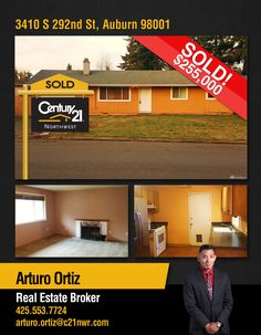 CONGRATULATIONS Arturo Ortiz on selling this beautiful property Auburn!!! Great work!!  MLS# 1067326
