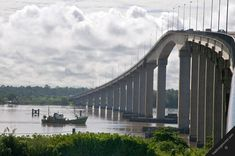 Bridge in South America   south america guianas suriname paramaribo surinam-river meerzorg jules ...