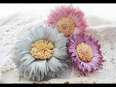 Paper Daisy Tutorial - YouTube