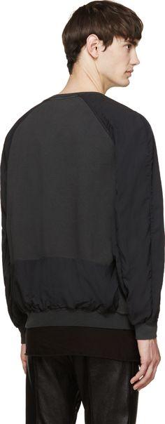 Haider Ackermann Black & Grey Raglan Sweatshirt