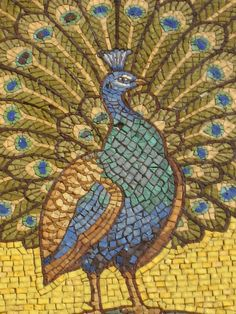 mosaic peacocks | Detail of Peacock mosaic, St George's Garrison Church Woolwich