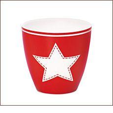 GreenGate Mini Latte Cup Becher Star Red