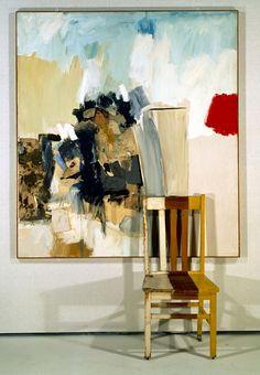 Robert Rauschenberg -Pilgrim, 1960, mixed mediums with wooden chair