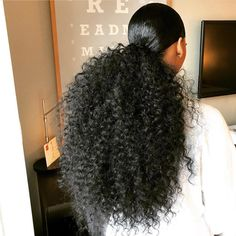 DSoar Hair saved to Hair ponytail is everything!🤔 Big ponytail made use Curly hair bundles Curly Ponytail Weave, Big Ponytail, Weave Ponytail Hairstyles, Ponytail Styles, Sleek Ponytail, Girl Hairstyles, Curly Hair Styles, Natural Hair Styles, Big Curly Hairstyles