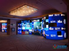 """Magic Stage series P3.9 indoor led screen in Beijing Wanda Sofitel Luxury hotels for """"Hello, goddess"""" press conference http://www.yes-led.com/en/displaycases.html?proID=2008109&proTypeID=163665"""