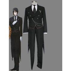 Black Butler Sebastian cosplay costume +eshopcos