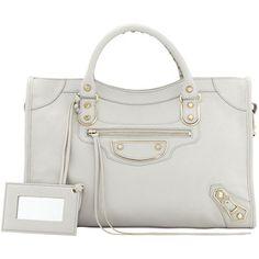 f4fe904a4f0ab1 Balenciaga Classic Chevre Grainee City Bag, Light Gray from Neiman Marcus -  Styhunt