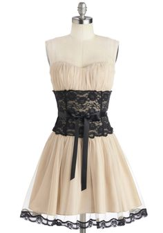 Storied Romance Dress in Champagne   Mod Retro Vintage Dresses   ModCloth.com