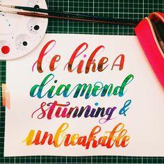Like a diamonddd 🎼 #letteringgoodvibes @_anjee3 @jciem.designs @mikala.designs : : : #calligraphy #calligraphie #moderncalligraphy #brushcalligraphy #brushlettering  #typography #handtype #handlettering #word #font #lettering #handlettered #handwriting #brushlettered #letteringchallenge  #dailylettering #calligraphylove #design #art #inspiration #followme #brushpen #watercolor #brushscript #handwritten #lettering #scriptlettering #calligritype #goodtype #diamond