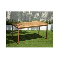 Patio Table Wood Dining Outdoor Yard Furniture Tea 6 Seater Brown Parasole Hole