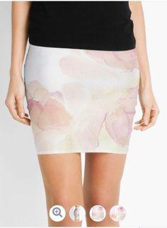 'Watercolor Kisses' Mini Skirt by TessaSanDiego Carousel, Kisses, Watercolor Art, Pencil, Mini Skirts, Ballet Skirt, People, Fashion, Moda