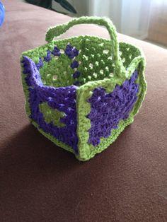 Täschchen häkeln, crochet, granny square