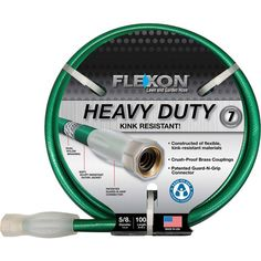 Foster all your little droop-headed flowers with the Flexon Garden Hose. A steady watering schedule will turn your lawn as green as a hill in April. -- Details can be found by clicking on the image.