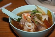 Ate this for five days in a row. Tom yum goong #thailand #food