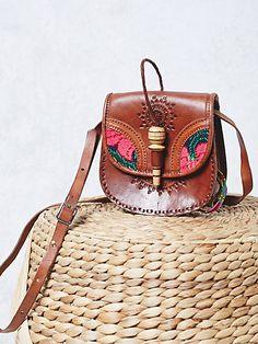 Product Image: Flora Tooled Saddle Bag