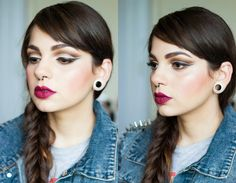 Tutorial de Maquiagem: Soft Cut Crease Eyes and Wine Lips - Autumn Makeup look