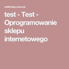 test - Test - Oprogramowanie sklepu internetowego