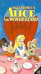 Walt Disney's Classic Black Diamond VHS Animated ALICE in WONDERLAND