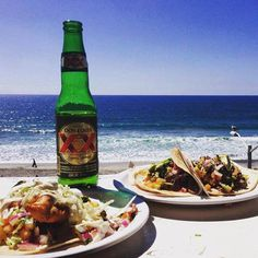Tasty tacos, perfect view of the Pacific and a cold one to top it off!  This could be you in #RosaritoBeach!  Live #BajaCalifornia today!    Adventure by wennla #taco #mexico #baja #visit