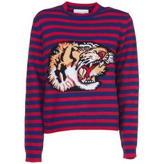 caf9f2b4932f Tiger Sweater (3.650 BRL) ❤ liked on Polyvore featuring tops