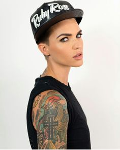 Lcollection Orange Is The New Black, Black Ruby, Girl Crushes, Brittenelle Fredericks, Ruby Rose Tattoo, Androgynous Women, Androgyny, Tomboy Style, Batwoman