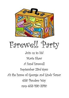 Going Away Party Invitations Going Away Party Going Away Party