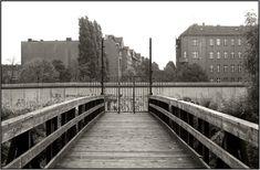 1346 22.9.1986 Geschlossene Ost-West Brücke über den Landwehrkanal zwischen Wiener+Karl-Kunger-Str.
