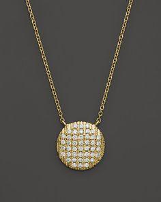 "Dana Rebecca Designs 14K Yellow Gold Diamond Lauren Joy Large Necklace, 16"""