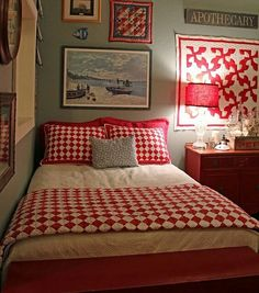 Red And White Antique Quilts