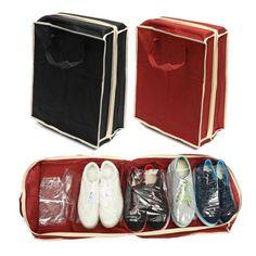 Portable folding shoes storage case travel bag zipper ventilation folding portable waterproof organizer 2016 fashion new B1 #clothing,#shoes,#jewelry,#women,#men,#hats,#watches,#belts,#fashion,#style