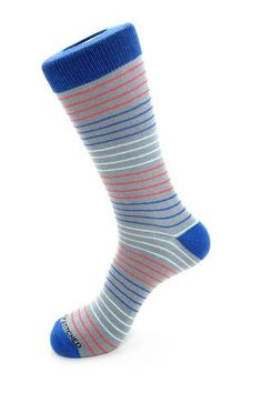 4 Color Stripe Sock, Blue Socks, Blue Unsimply Stitched Socks Blue Socks, Striped Socks, Color Stripes, Homestead, Minnesota, Stitch, How To Wear, Collection, Fashion