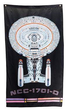 Star Trek Calhoun Sportswear Star Trek USS Enterprise 30 x 50 Wall Banner Enterprise Logo, Uss Enterprise Ncc 1701, Star Trek Enterprise, Star Trek Store, Star Trek Poster, Star Trek Theme, Gifts For Sailors, Dorm Room Walls, Kings Game