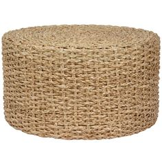 Rush Grass Knotwork Coffee Table with Ottoman for Sale | Wayfair $128 - obvious connection to environment, natural fibers