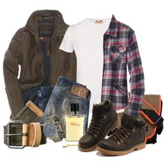 Lumberjack Style by marta-cercols on Polyvore this is more Jordan lol except for those hideous shoes haha