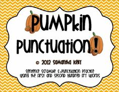 Practice Sentence Fluency and Punctuation with this fun, fall-themed activity. Laminate pieces and rearrange word order and punctuation marks, much like Fargo North, Secret Decoder, in the classic Electric Company Teaching Language Arts, Teaching Writing, Writing Activities, Teaching Tips, Vocabulary Activities, First Grade Writing, 2nd Grade Reading, Classroom Fun, Classroom Activities