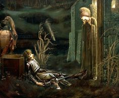 The Dream of Sir Lancelot at the Chapel of the Holy Grail by Edward Burne-Jones.
