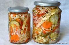 Salata de muraturi reteta de ciolomada ungureasca savori urbane Vegan Kimchi Recipe, Vegetarian Recipes, Baker Recipes, Cooking Recipes, Cheap Lazy Vegan, Korean Side Dishes, Romanian Food, Romanian Recipes, Salads