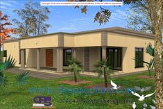 Overall Dimensions- x 2 Car Garage Area- Square meters Free House Plans, Modern House Plans, House Floor Plans, Flat Roof House Designs, House Plans South Africa, Building Costs, House Plans 3 Bedroom, Small Room Design, Site Plans