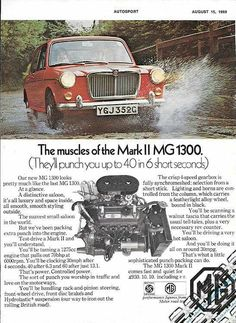 British Car, Great British, Classic Mini, Classic Cars, Mg Cars, Morris Minor, Classic Motors, Car Advertising, Car Makes