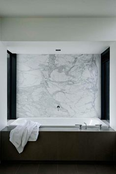 Marble on walls.