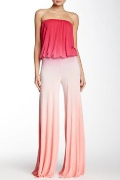 691d19469ce Sydney Strapless Ombre Jumpsuit by Young Fabulous   Broke on