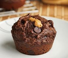 chocolate banana peanut butter lava muffins? yes, please! :D <3