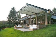 Light Weight Aluminum Band Patio Area Furnishings for the Poolside – Outdoor Patio Decor Outdoor Rooms, Outdoor Living, Outdoor Decor, Outdoor Ideas, Bali Blinds, Victorian Parlor, Pergola Pictures, Contemporary Patio, Pergola Attached To House