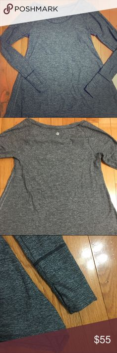 Lululemon grey long sleeve shirt Lululemon long sleeve thumb holes grey shirt. Size 6. Hardly worn. Great condition. No trades. Please use offer button if interested. Open to reasonable offers.  Lmk if I can answer any questions for you. Thank you for visiting my closet. Comeback again! 😀 lululemon athletica Tops Muscle Tees
