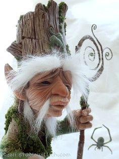 Birch WhiteOak StudioWillich OOAK Art Doll Elf by studiowillich Magical Creatures, Fantasy Creatures, Fantasy World, Fantasy Art, Fantasy Life, Dragons, Kobold, Marionette, Elves And Fairies