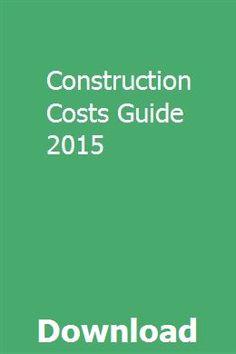 Construction Estimate Book Pdf