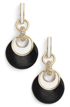 Alexis Bittar 'Lucite®' Encrusted Link Drop Earrings