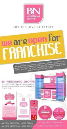 BN Whitening Shoppe proudly shares that we are now a member of FIFA or Filipino International Franchising Association!!!! Complying for this registration is never an easy task because of their strict conditions and considerations. Also, BN Whitening Shoppe is IPO REGISTERED or Intellectual Property Office! This photo is just a preview cover of our Franchising Manual Kit to be given to those aspiring and qualified Franchisers Intellectual Property, Filipino, Fifa, Whitening, Manual, Conditioner, Bring It On, Passion, My Love